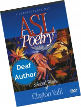 A DVD cover page of ASL Poetry by Valli