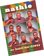 A DVD cover page of Nathie: No Hand Me Downs